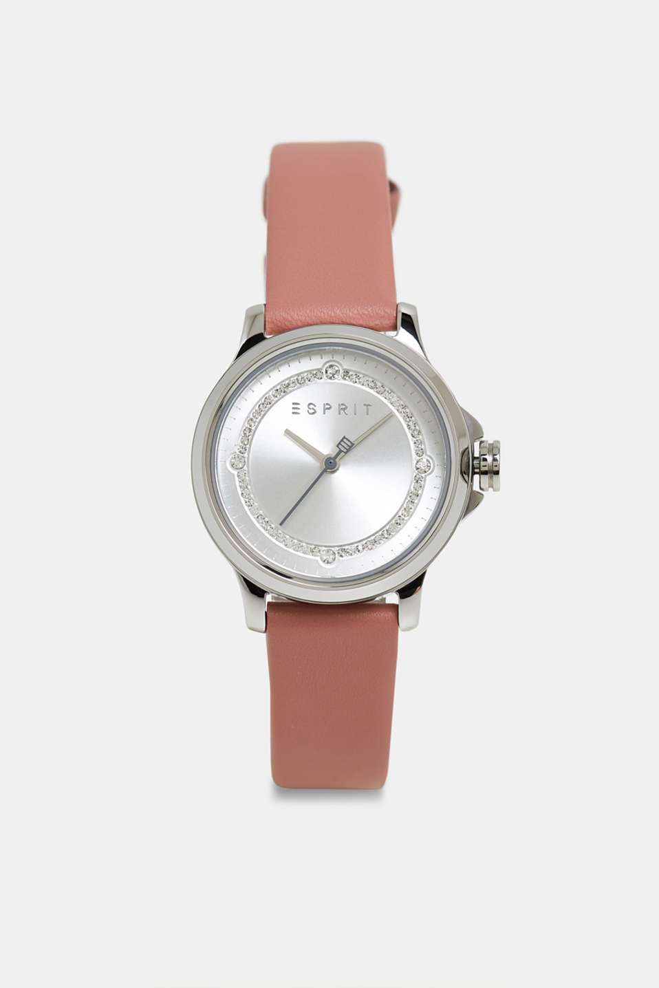 Stainless steel watch with zirconia, ROSE, detail image number 0