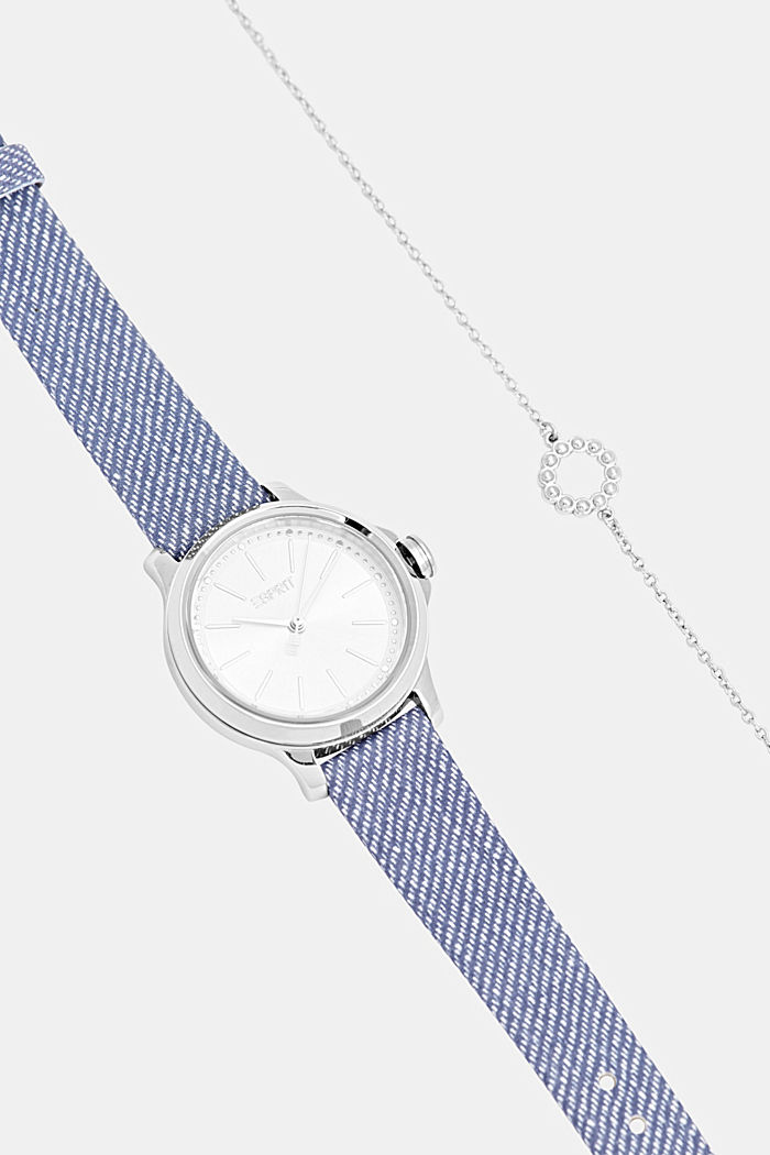 Set aus Uhr und Armband, BLUE, detail image number 3