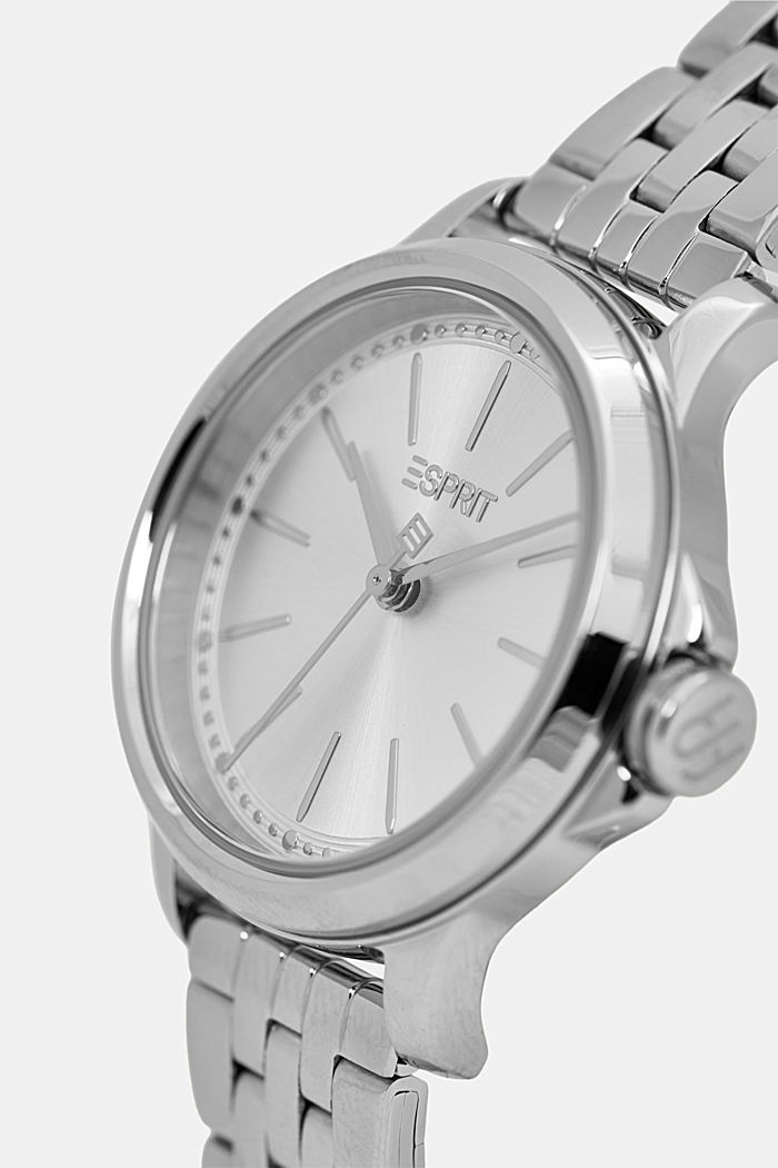 Set comprising watch and bracelet, stainless steel, SILVER, detail image number 1