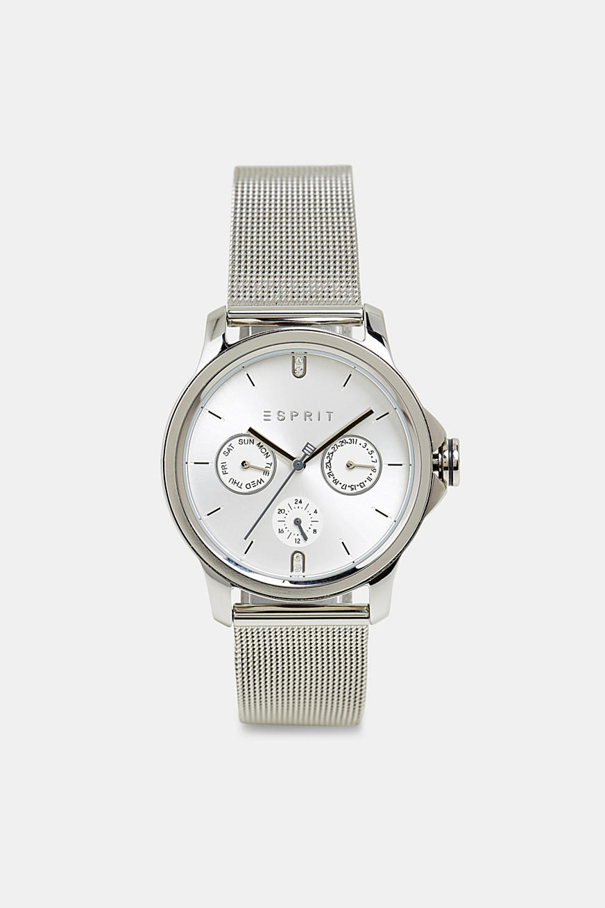 Multi-functional watch with a mesh strap