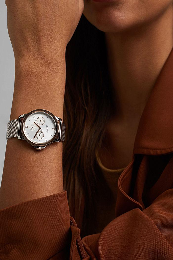 Edelstahl-Uhr mit Datum-Anzeige
