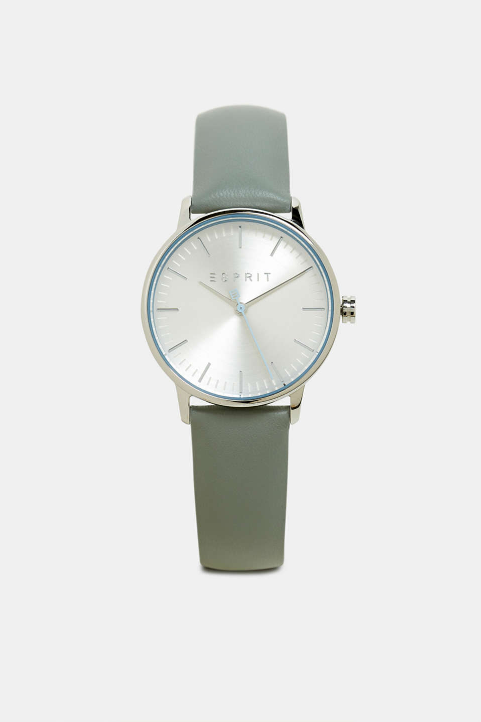 Esprit - Stainless-steel watch with a leather strap