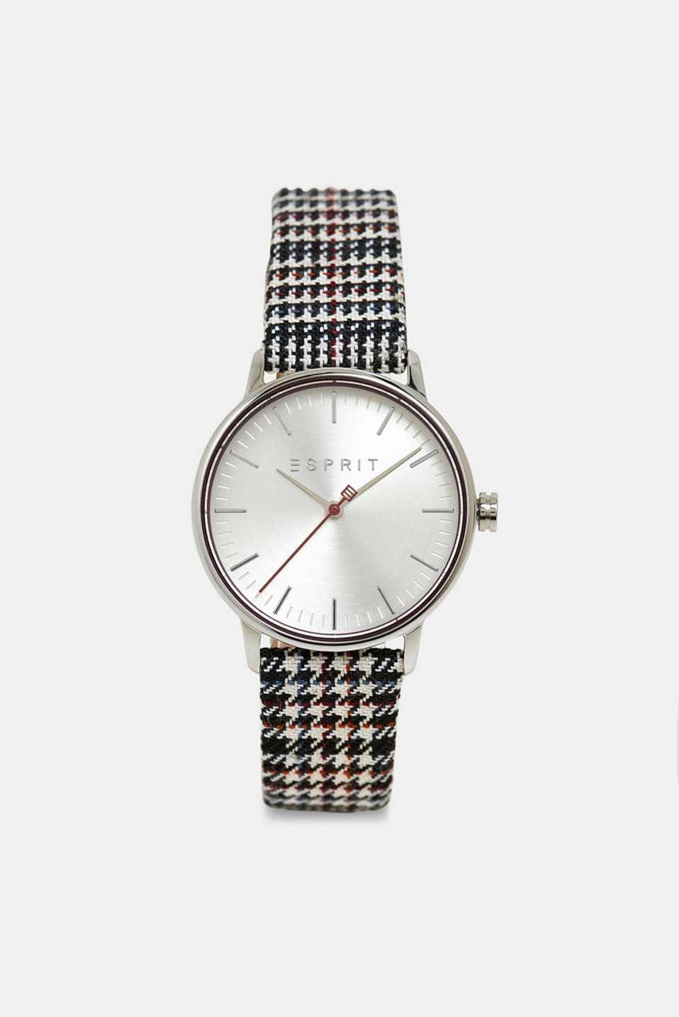 Stainless steel watch with a textile strap, BLACK, detail image number 0