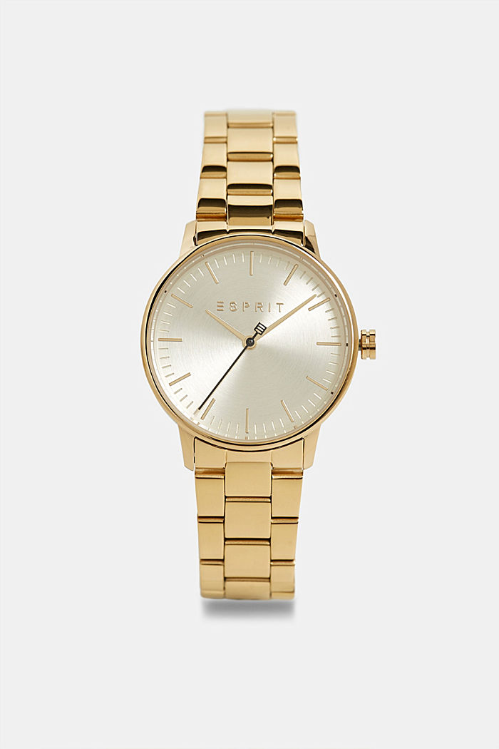 Edelstahl-Uhr mit Gliederarmband, GOLD, detail image number 0
