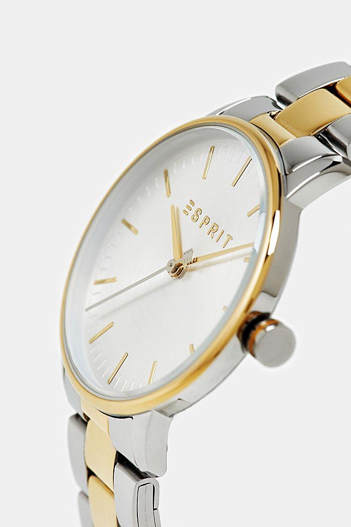 Edelstahl-Uhr mit Gliederarmband, GOLD, detail image number 1
