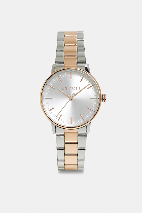 Stainless steel watch with a colour mix