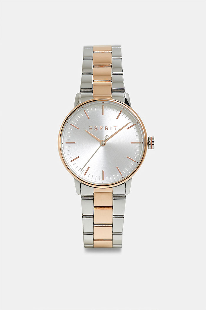 Stainless steel watch with a colour mix, ROSEGOLD, overview