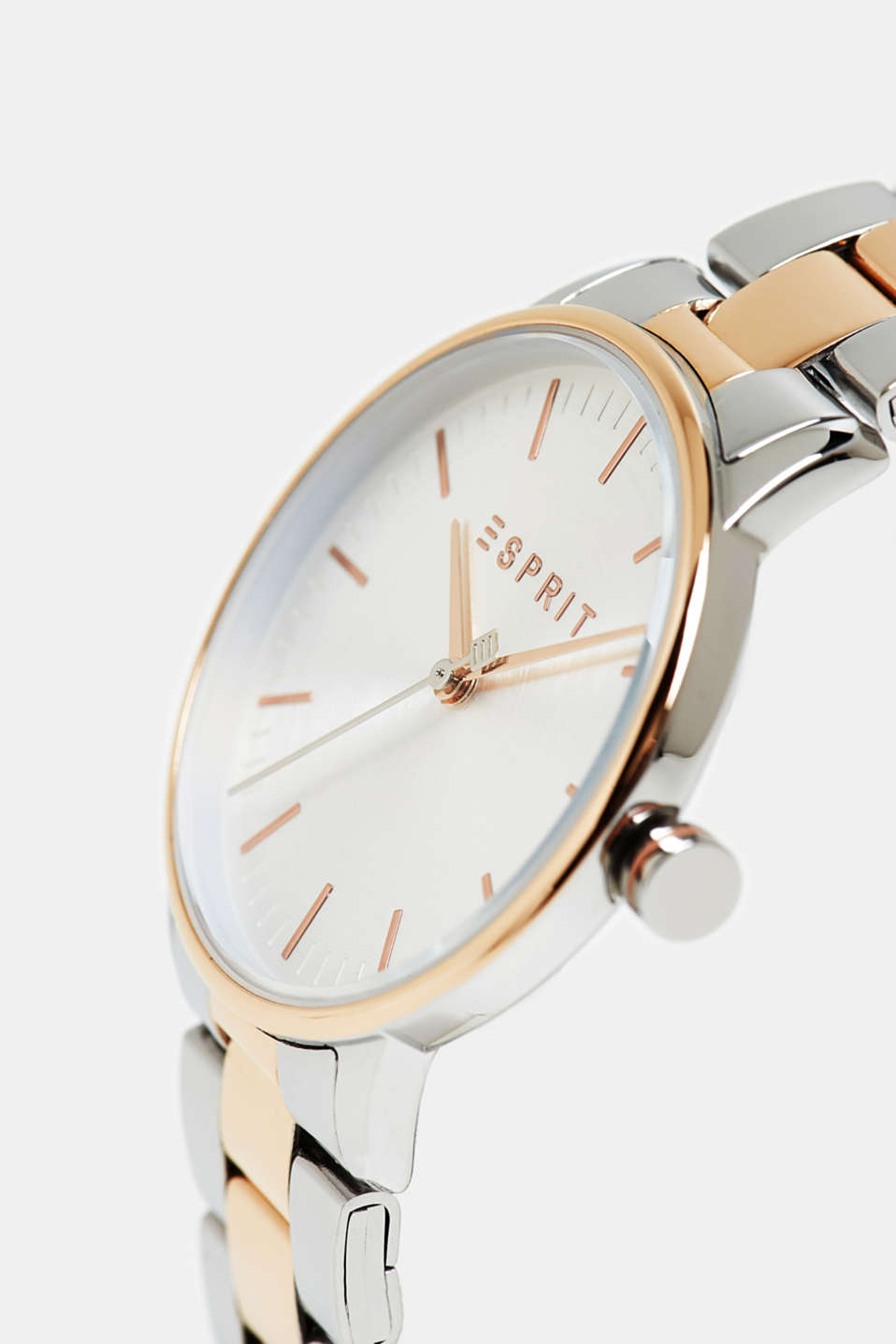 Stainless steel watch with a colour mix, ROSEGOLD, detail image number 1