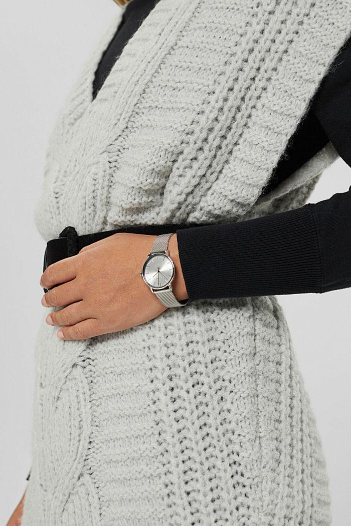 reloj de acero inoxidable con pulsera intercambiable