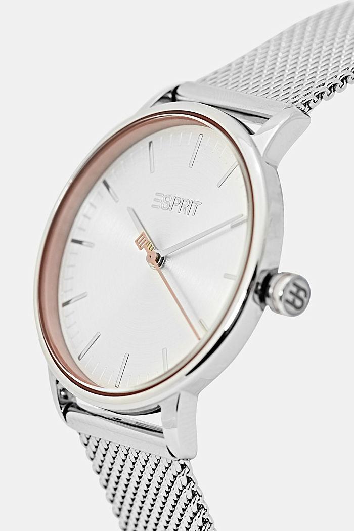 Vegano: reloj de acero inoxidable con pulsera intercambiable