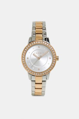 Gemstone watch with zirconia, ROSEGOLD, detail
