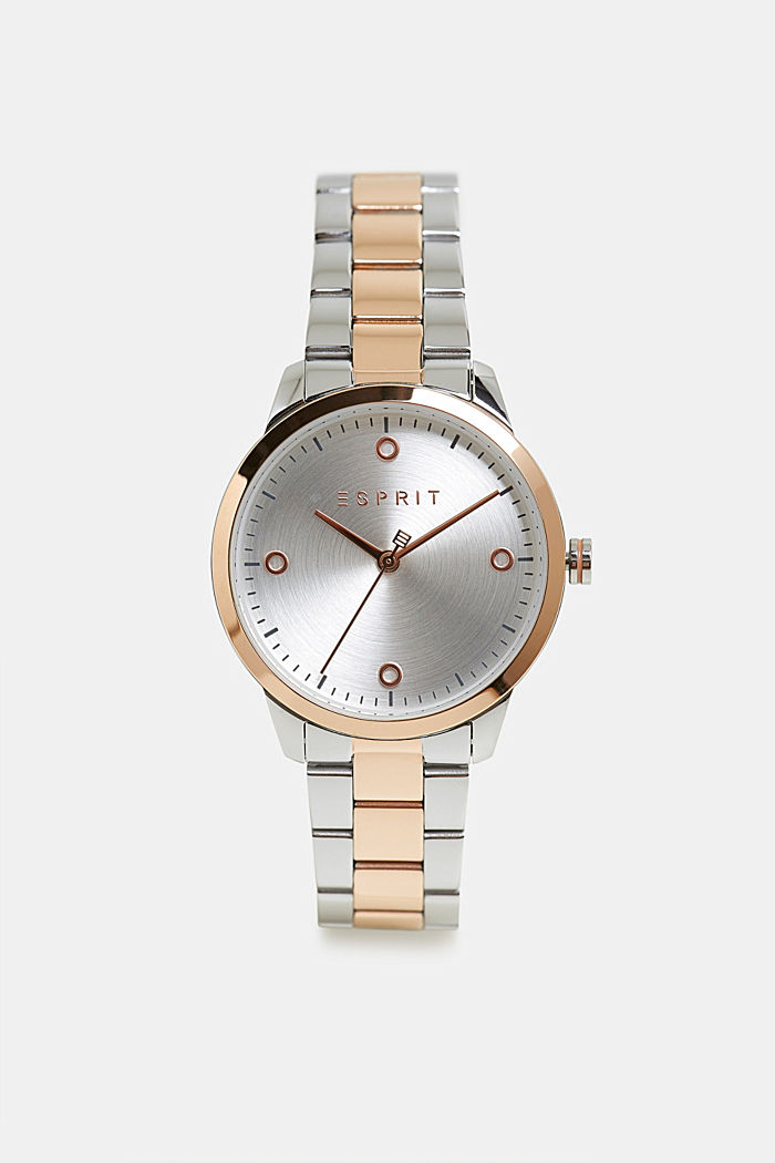 Stainless-steel watch with link bracelet, ROSEGOLD, detail image number 0