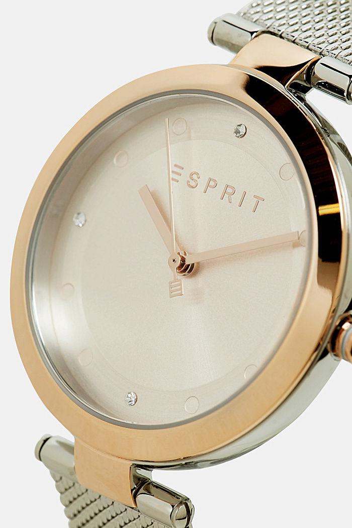 Edelstahl-Uhr mit Mesh-Armband