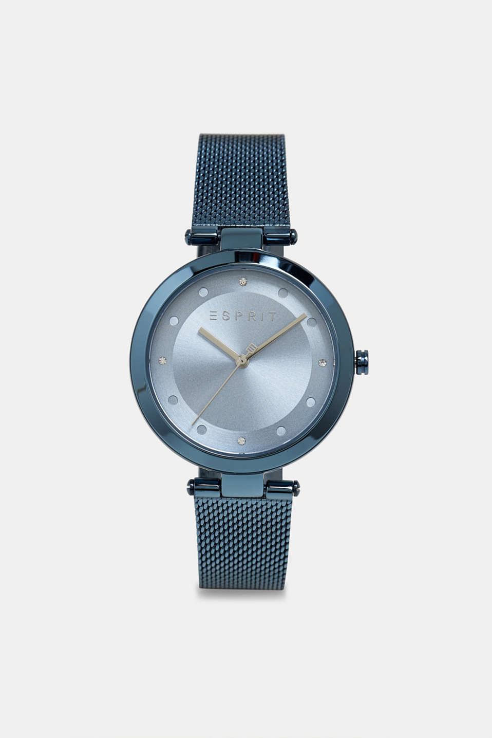 Stainless steel watch with blue plating, BLUE, detail image number 0
