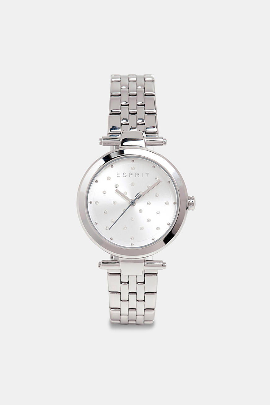 Stainless steel watch with zirconia