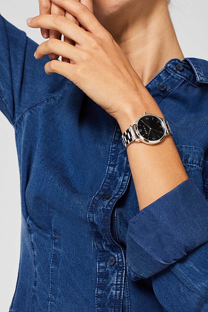 Edelstahl-Uhr mit Gliederarmband, SILVER, detail image number 2