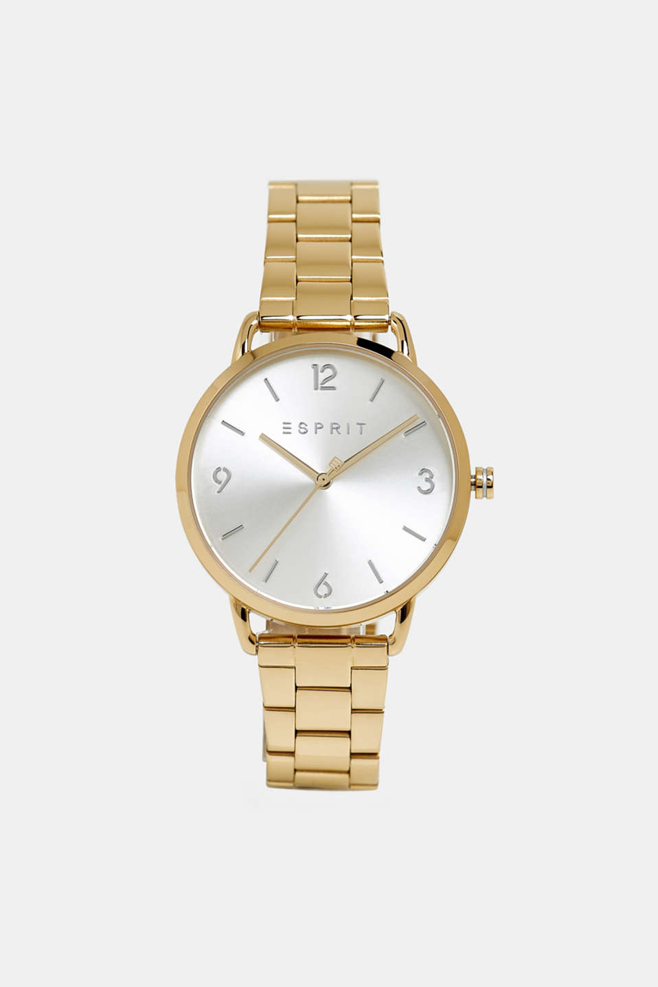 Stainless-steel watch with link bracelet, GOLD, detail image number 0