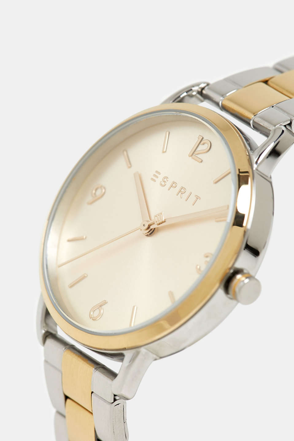 Stainless steel watch with a colour mix, GOLD, detail image number 1