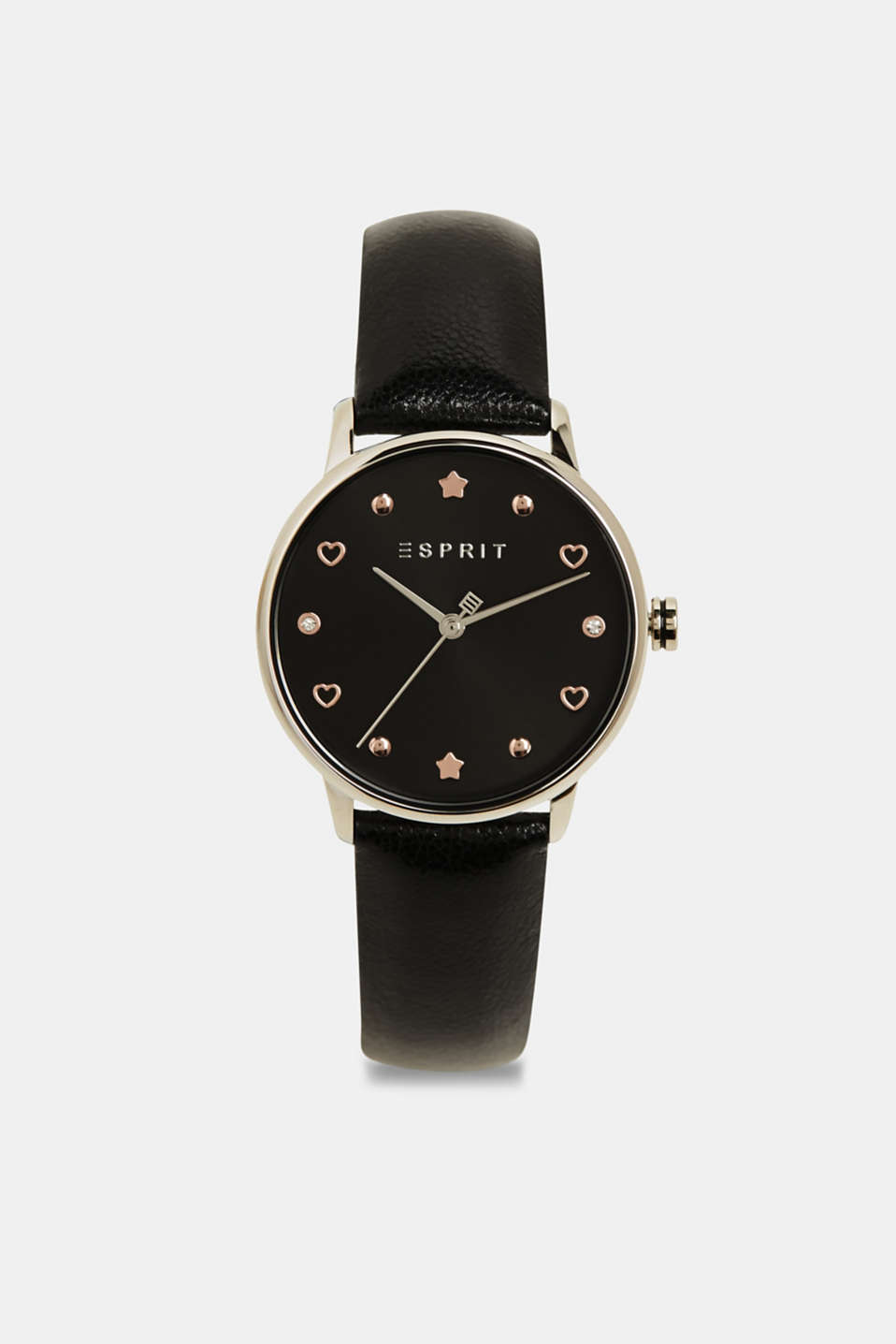 Watch and bracelet set, BLACK, detail image number 0