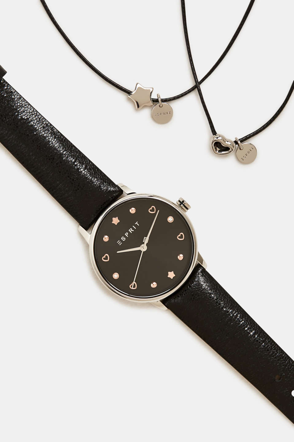 Watch and bracelet set, BLACK, detail image number 4