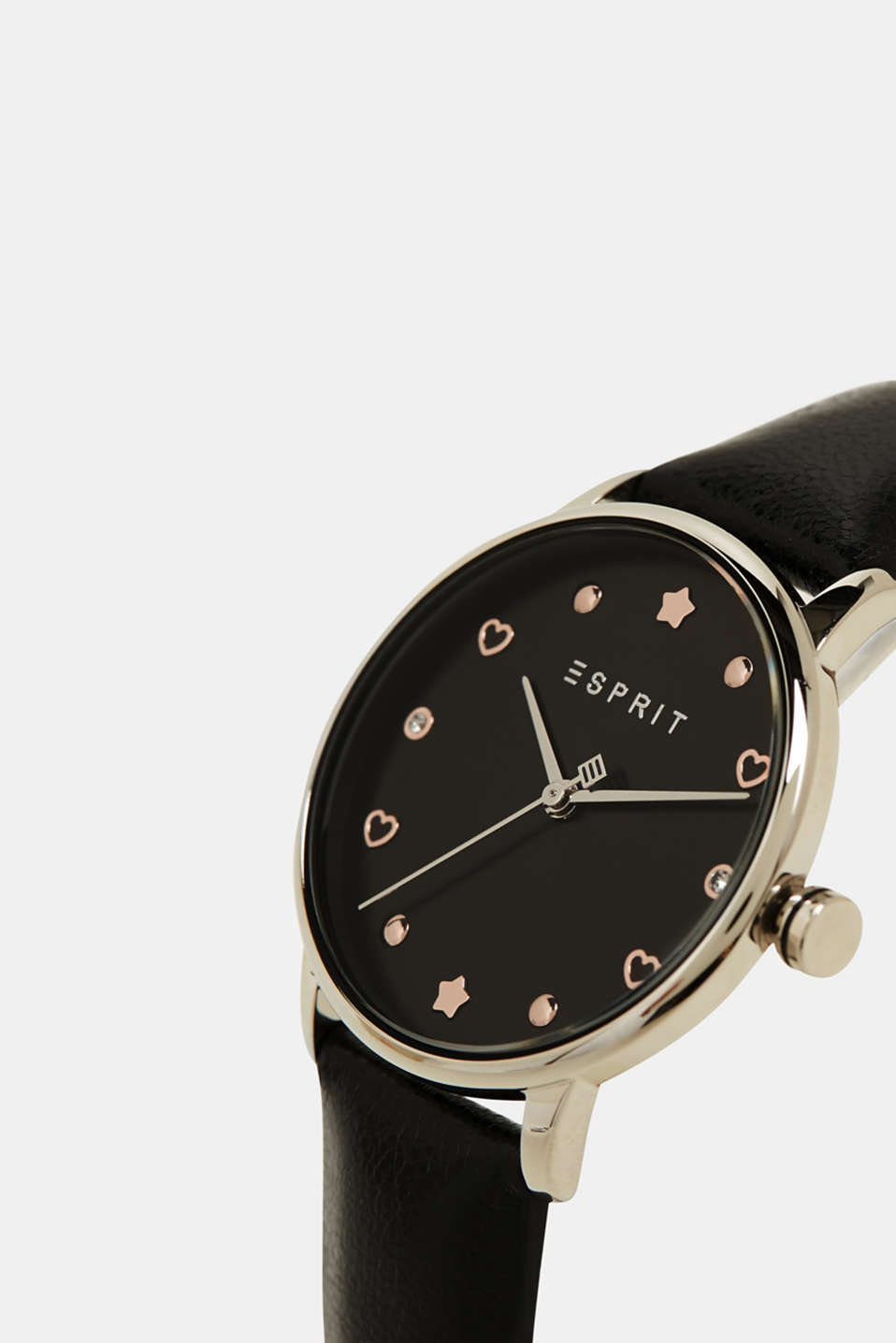 Watch and bracelet set, BLACK, detail image number 1