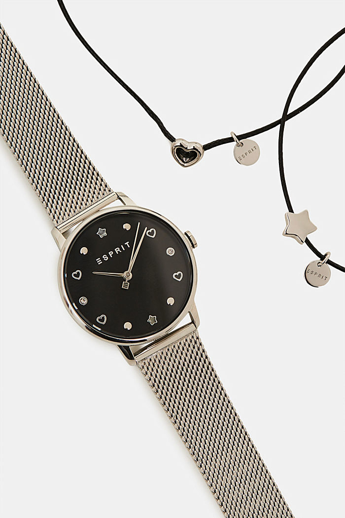 Watch and bracelet set, SILVER, detail image number 1