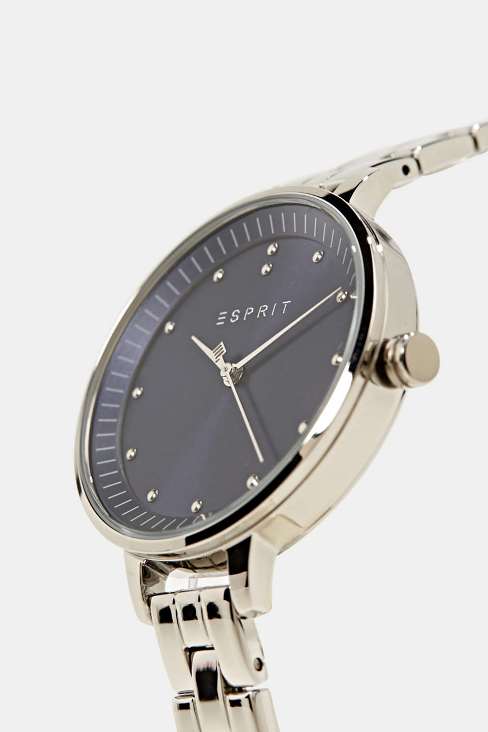 Watch with link strap, stainless steel, LCSILVER, detail image number 1