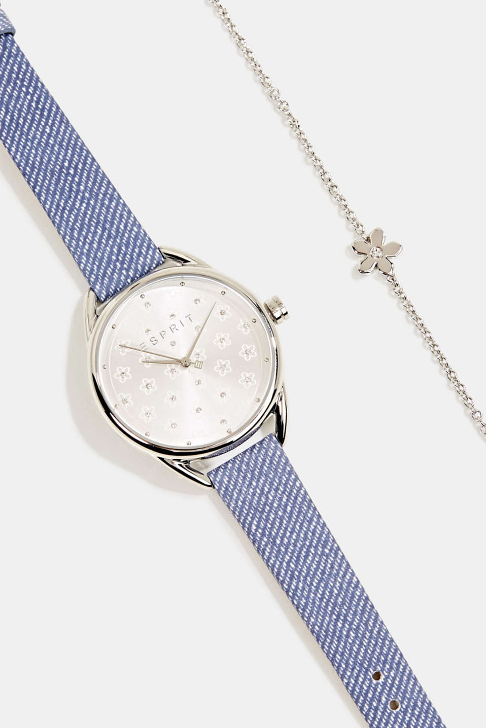 Watch and bracelet set, LCBLUE, detail image number 1