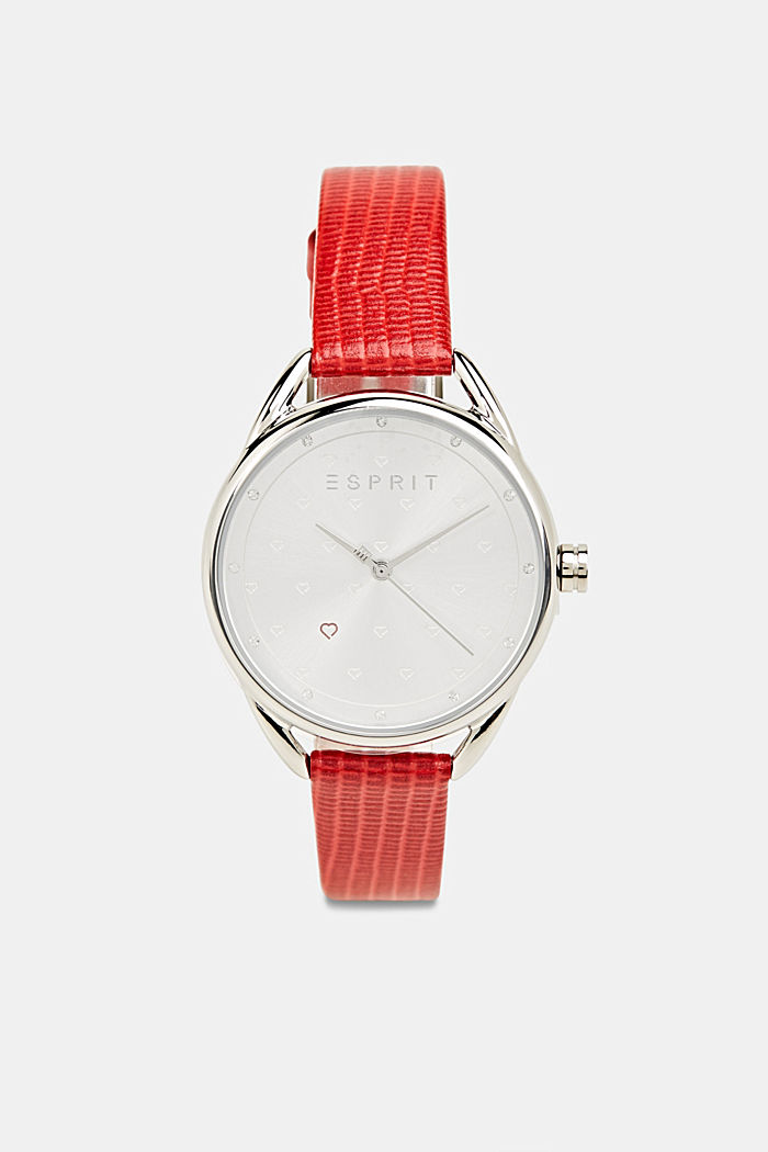 Bracelet and watch set, stainless steel, RED, detail image number 3