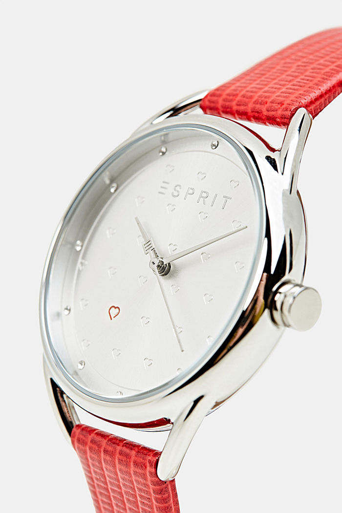 Bracelet and watch set, stainless steel, RED, detail image number 1