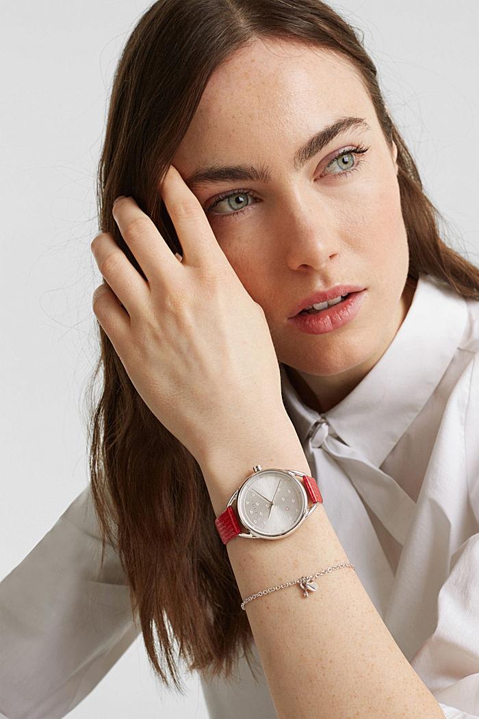 Set aus Armband und Uhr, Edelstahl