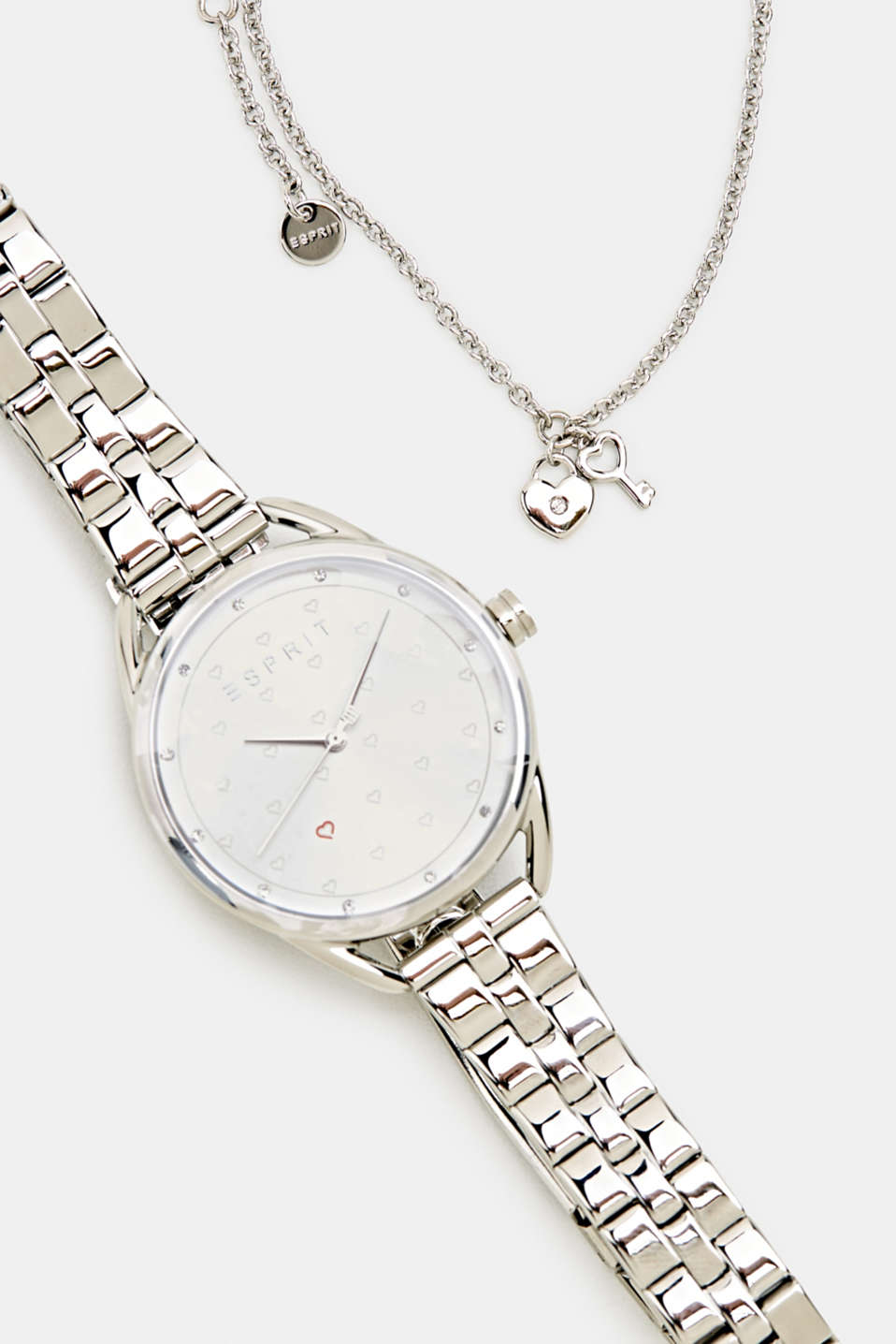 Esprit - Bracelet and watch set, stainless steel
