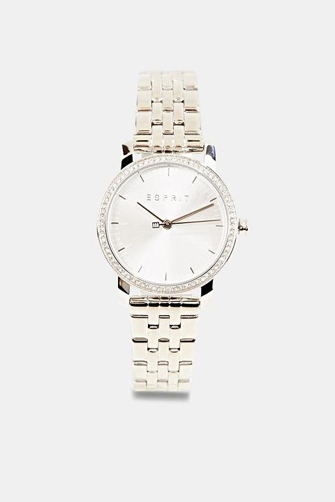 Gemstone watch with zirconia