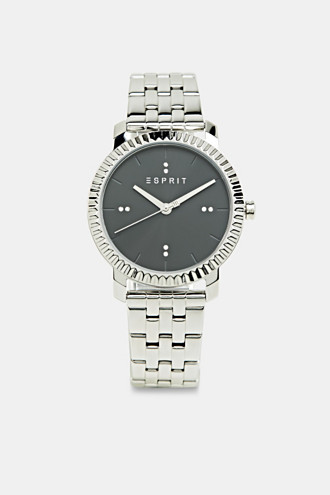 Stainless-steel watch trimmed with zirconia