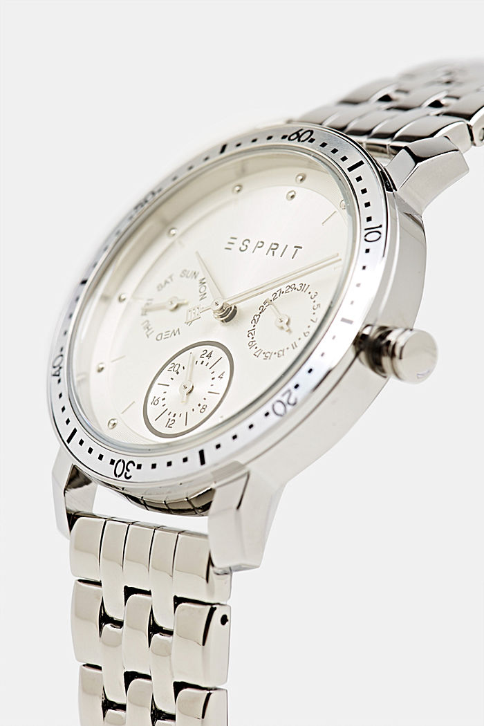 Multi-functional watch with a link strap, SILVER, detail image number 1