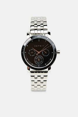 Multi-functional watch made of stainless steel, SILVER, detail