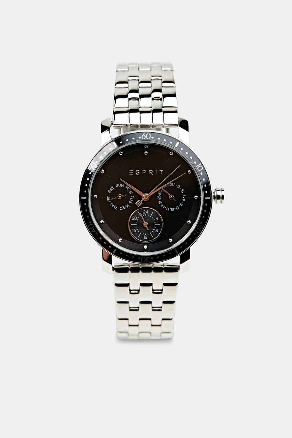 Esprit - Multi-functional watch made of stainless steel