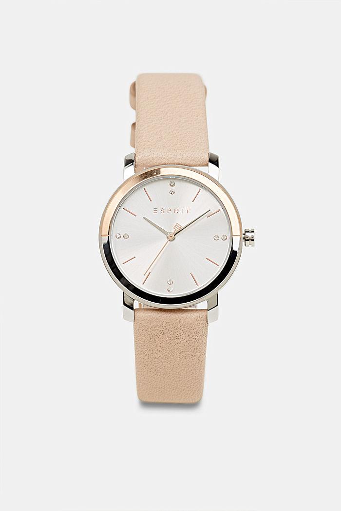 Watch and bracelet set, BEIGE, detail image number 0