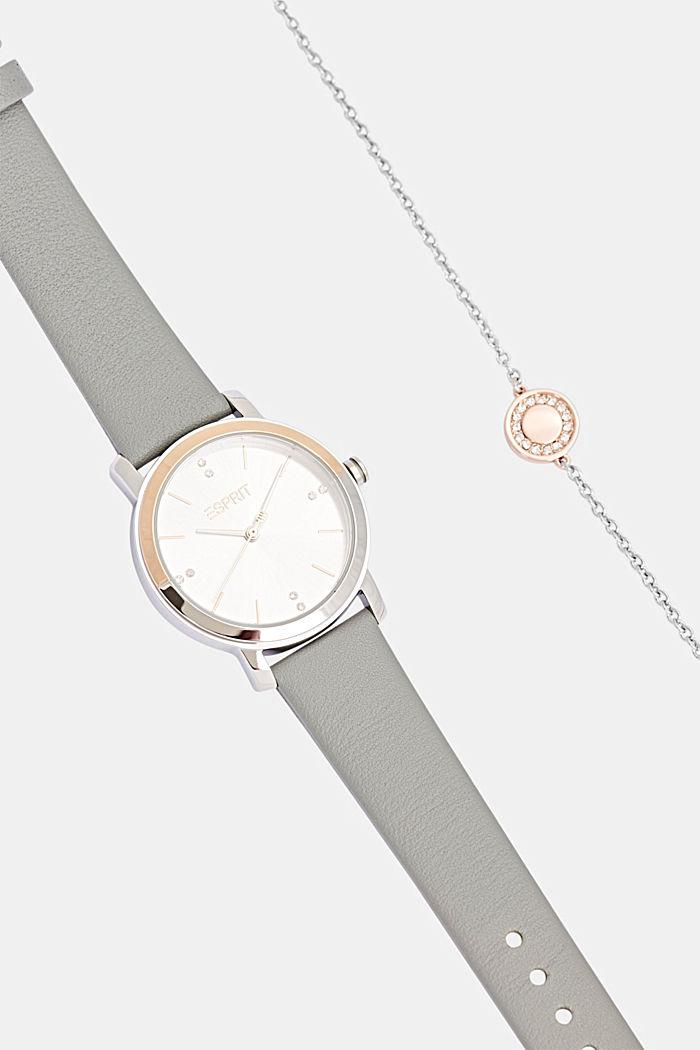 Set aus Uhr und Armband, GREY, detail image number 3