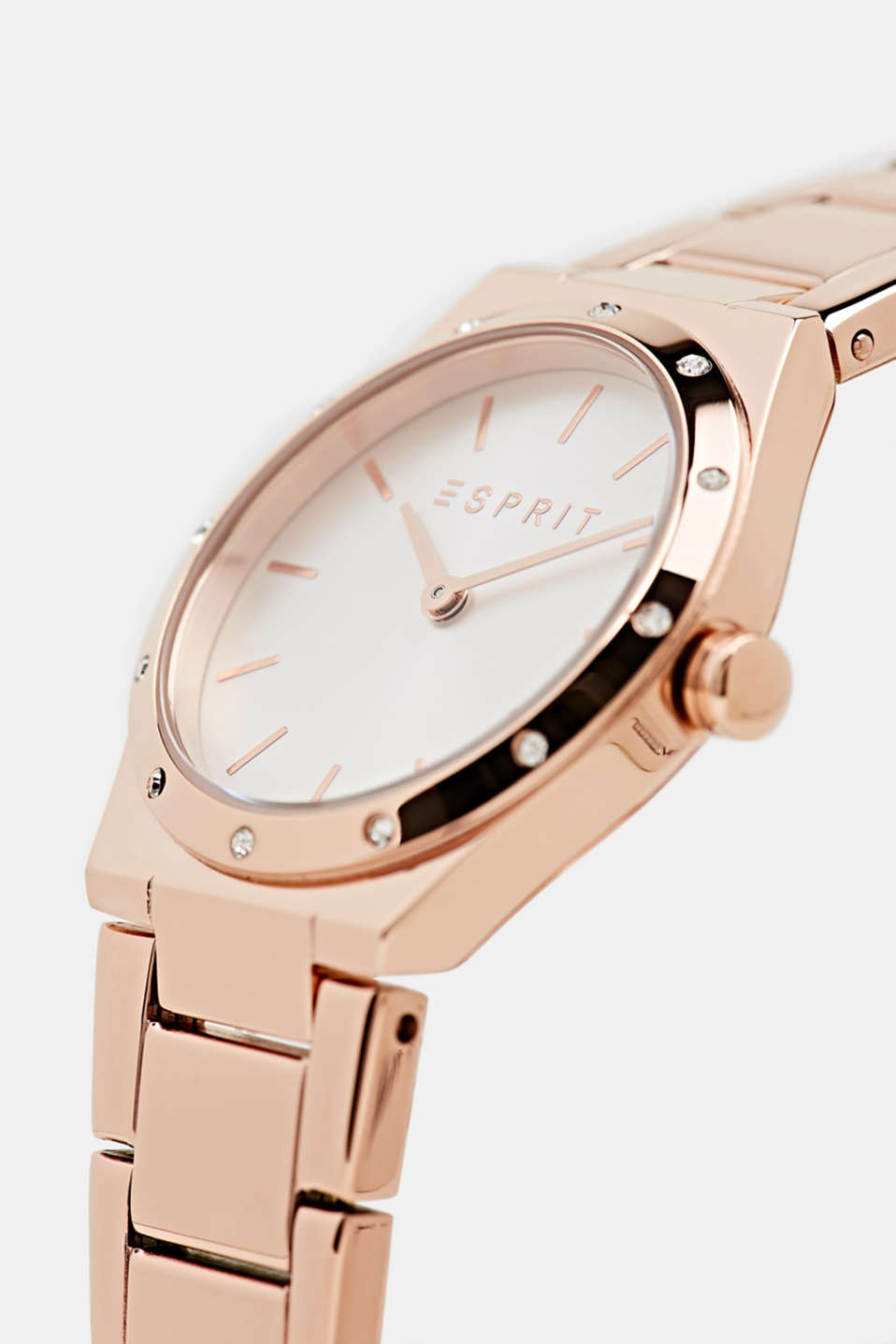 Stainless-steel watch with rose gold plating, LCROSEGOLD, detail image number 1