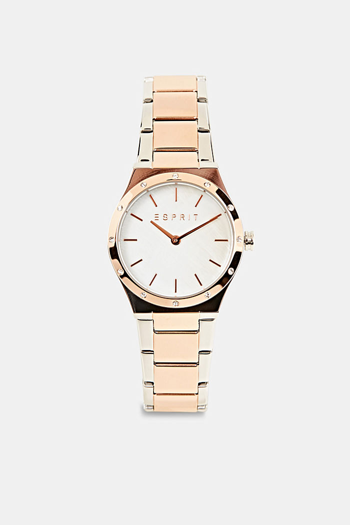Watch with zirconia, stainless steel, ROSEGOLD, detail image number 0