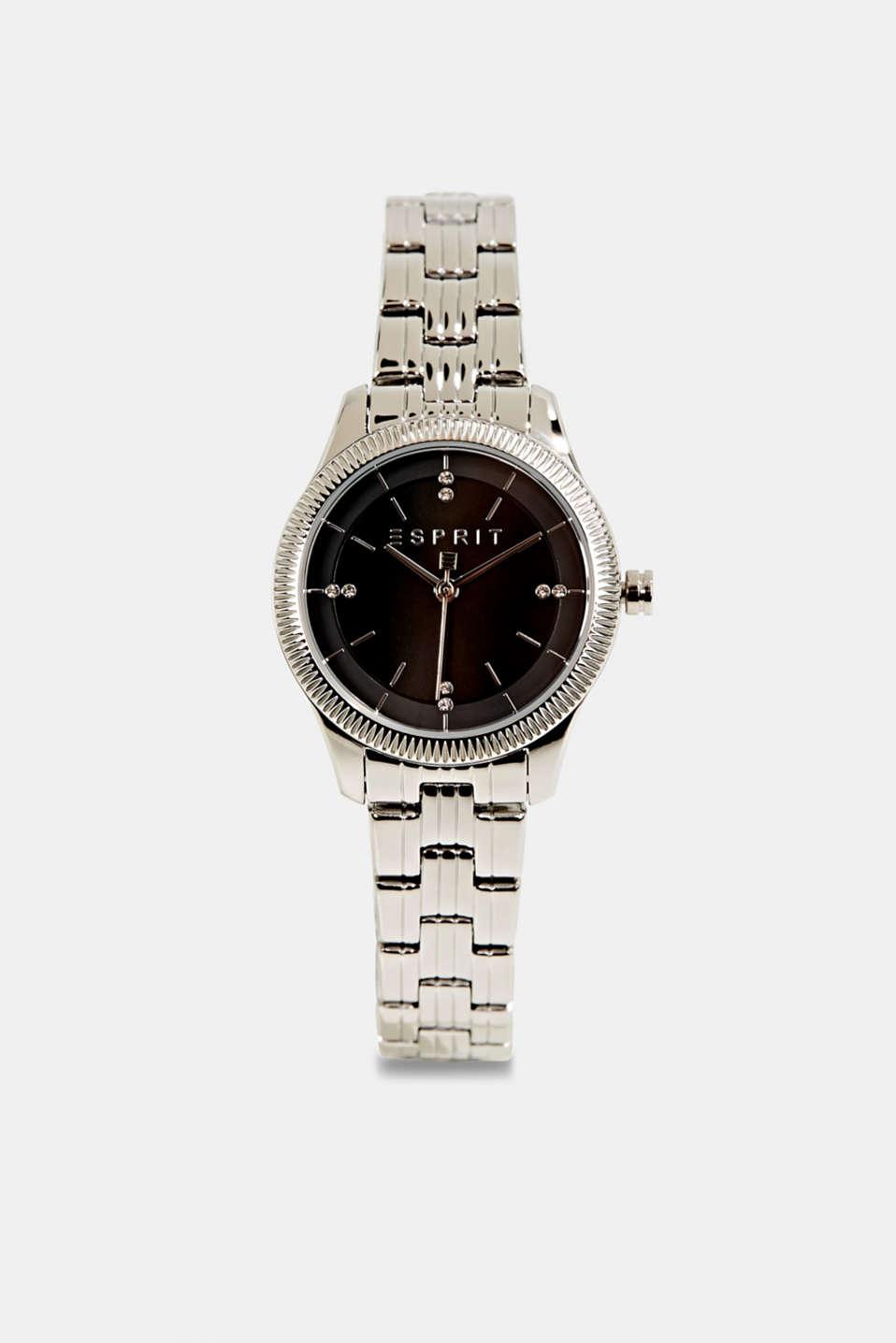 Gemstone watch with zirconia, LCSILVER, detail image number 0