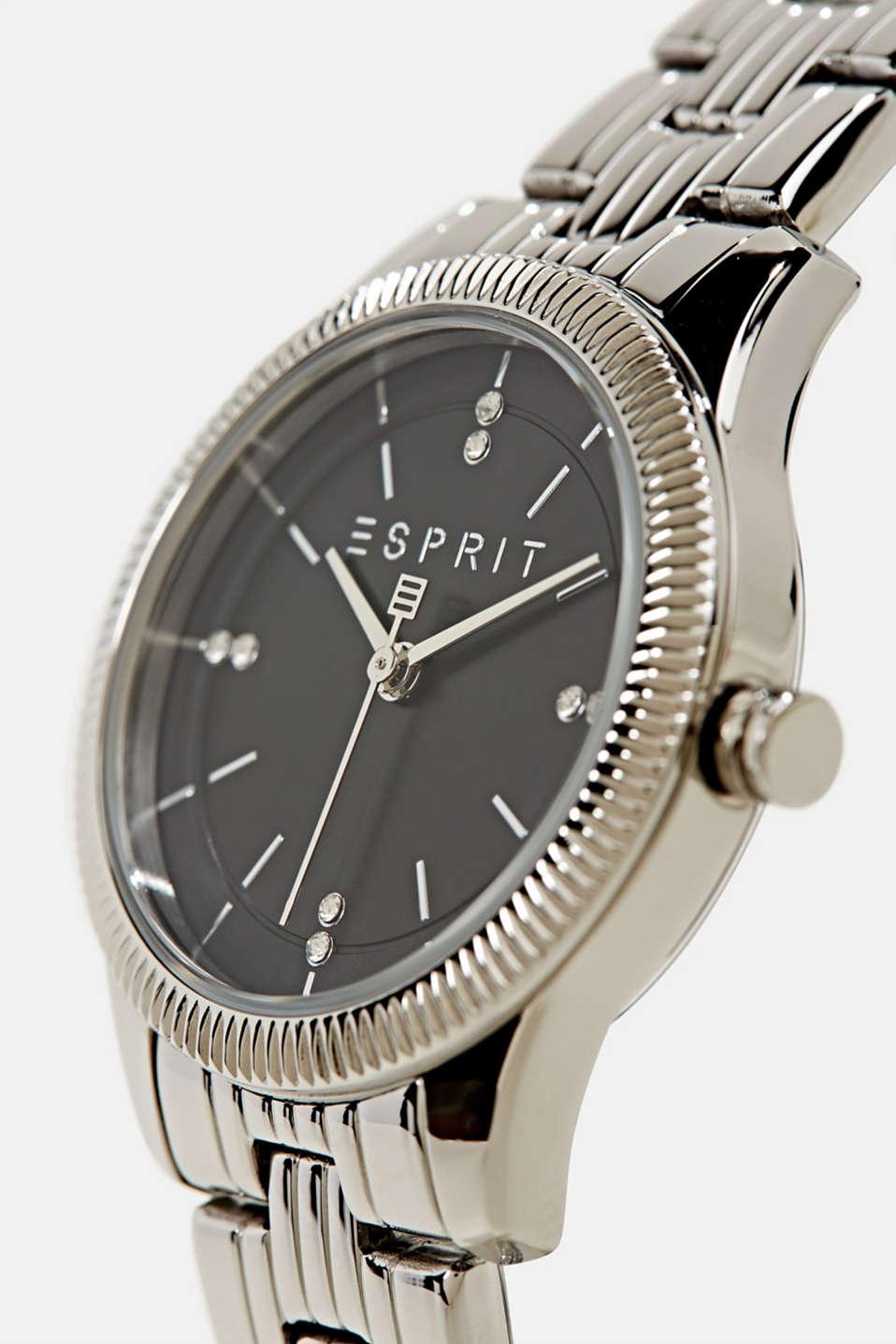 Gemstone watch with zirconia, LCSILVER, detail image number 1