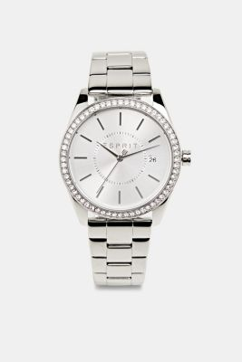 Gemstone watch with zirconia, LCSILVER, detail