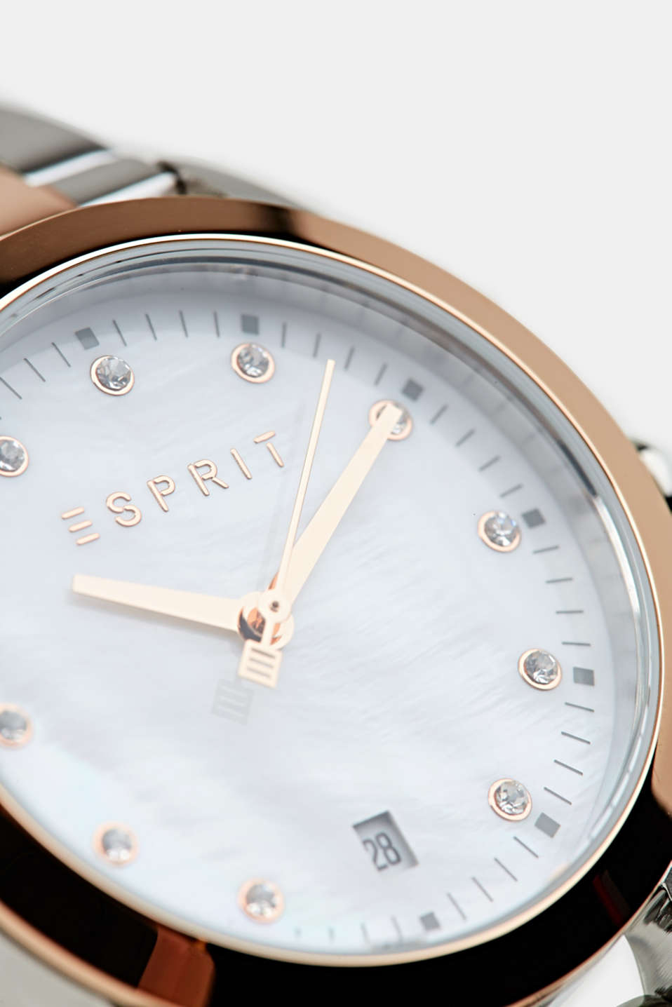 Stainless-steel watch with rose gold plating, LCROSEGOLD BICOL, detail image number 1