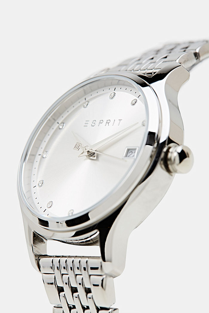 Bracelet and watch set, stainless steel, SILVER, detail image number 3