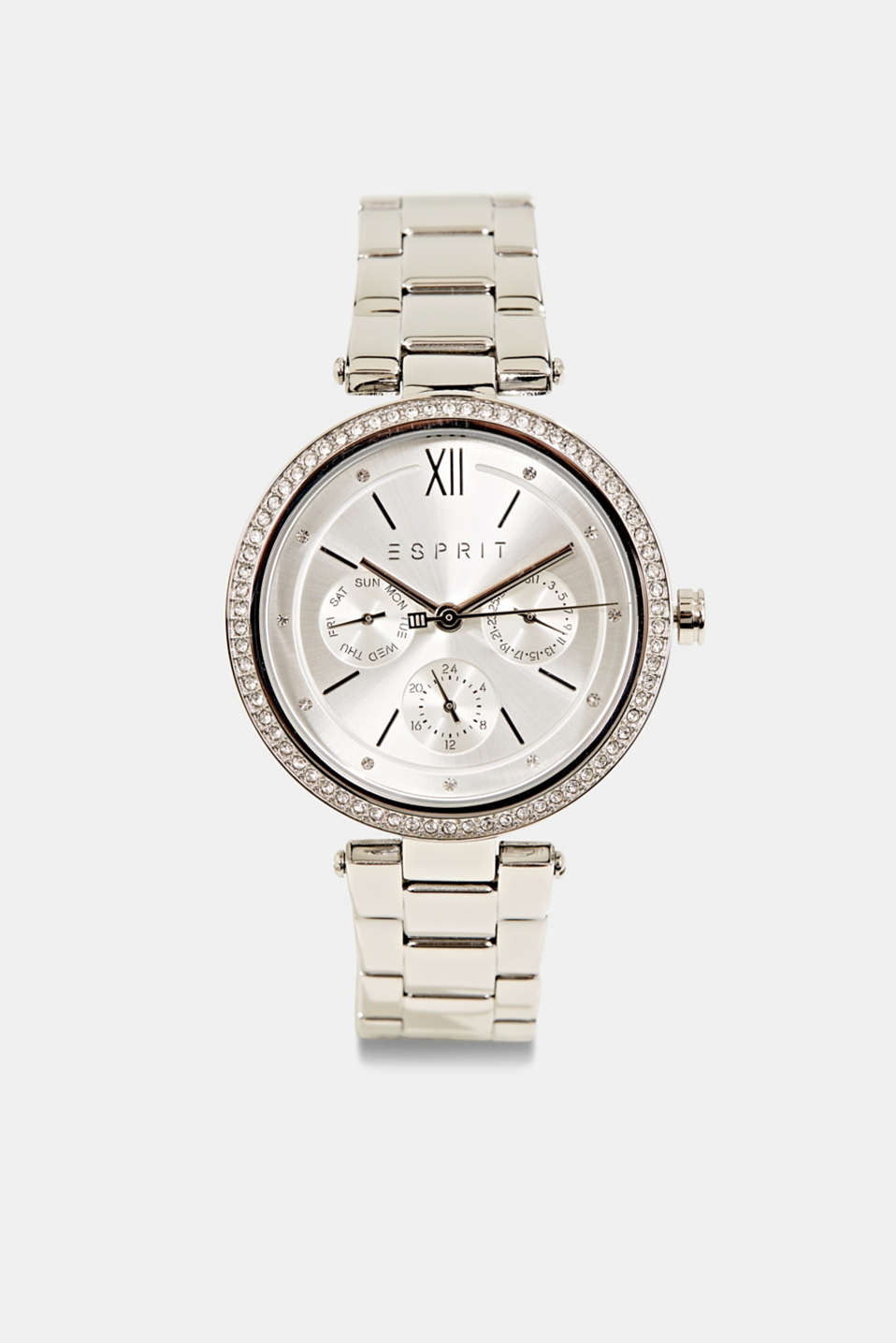 Multifunctional watch with zirconia, stainless steel, LCSILVER, detail image number 0