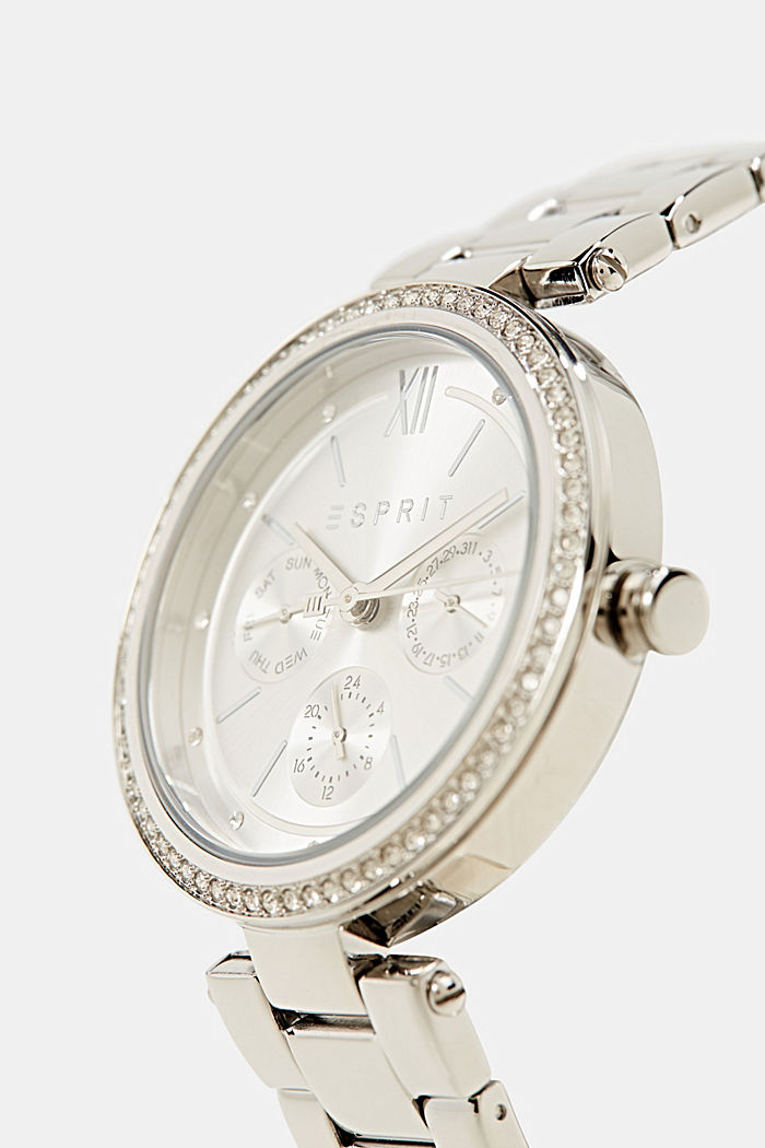 Multi-functional watch with zirconia, SILVER, detail image number 1