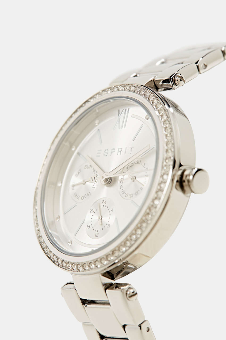 Multifunctional watch with zirconia, stainless steel, LCSILVER, detail image number 1