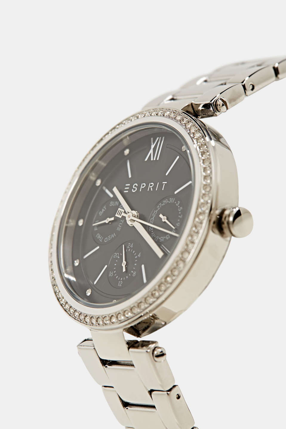 Multifunctional watch with zirconia, made of stainless steel, LCSILVER, detail image number 1